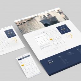 Bookingmodul - Design af UI-elementer til GoBoat