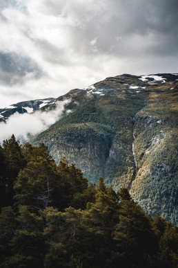 Layered mountains in Norway