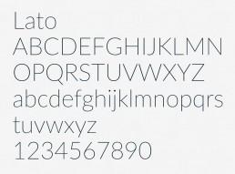 Valg af font til RAND Boats - Lato