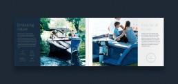 Layout af katalog for RAND Boats - Embracing nature
