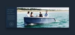 Layout af katalog for RAND Boats - Sustainable design