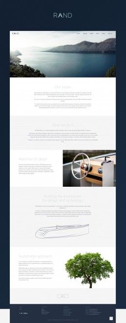 About page webdesign til RAND Boats