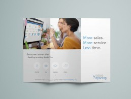 Brochure-design for MoreReporting