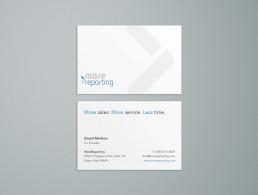 Design af visitkort for MoreReporting