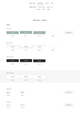 Buttons and links in the Magasin Design System