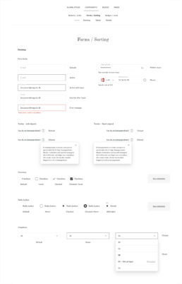 Forms in the Magasin Design System